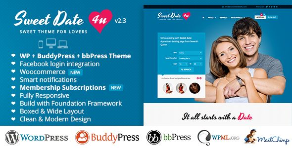 Sweet Date - More than a WordPress Dating Theme (BuddyPress)