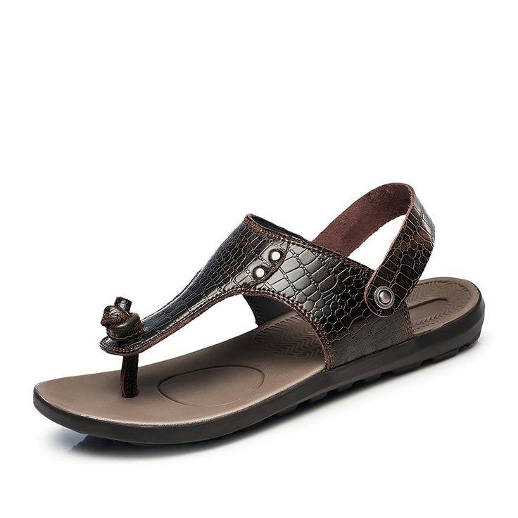 Camouflage Nécessaire Été Ciel Pour Les Hommes Sandales D'été Tongs Et Chaussures Bascule Pantoufle Intérieur Extérieur (44, Noir)