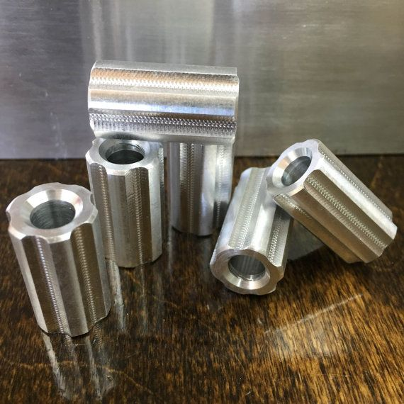 6 Round Aluminum EDC Bead / Every Day Carry / Paracord Bead / Metal Bead / aluminum Bead / Jewelry Supplies / CNC / Aluminum