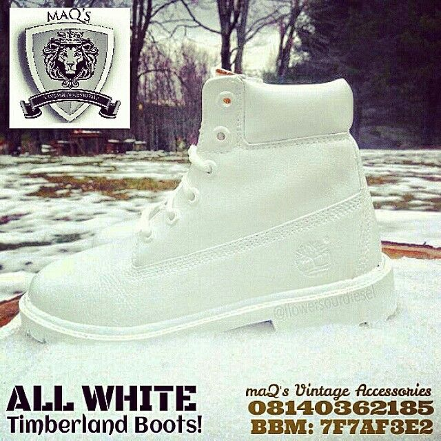 All white timberland boots! (N25,000)