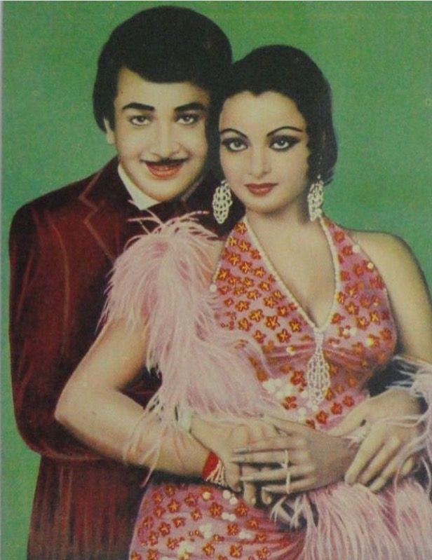 Randhir Kapoor and Rekha