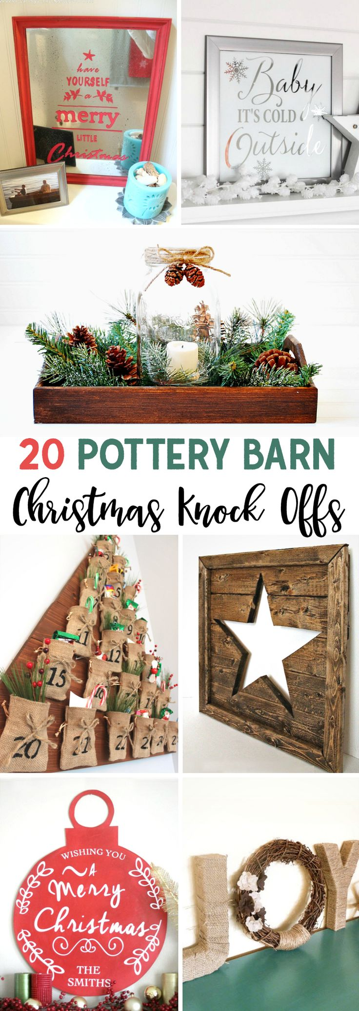 Pottery Barn Christmas Knock Offs you can DIY! pottery barn | Christmas | knock offs | fixer upper | modern farmhouse | DIY