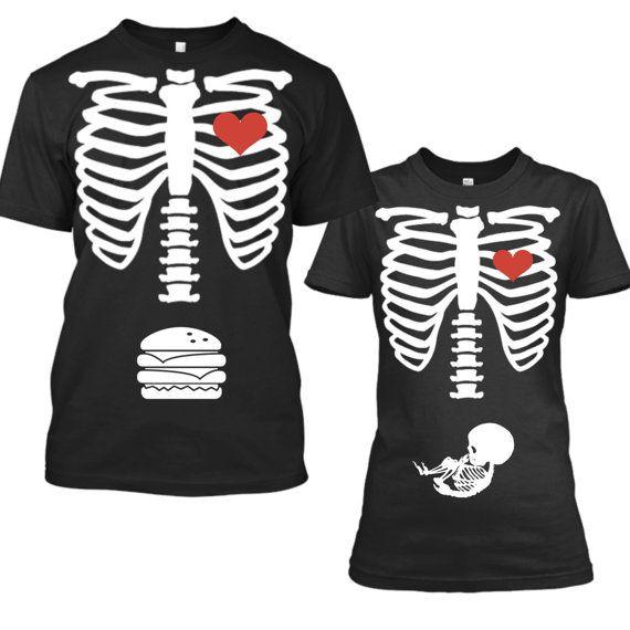 Halloween Schwangerschaft Ankündigung Hemd von CustomPrimePrints