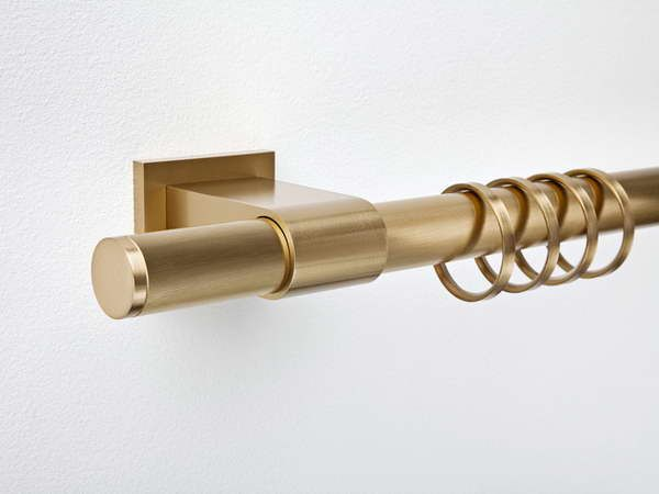 drapery rods | Polished Nickel Curtain Rod: Nickel Curtain Rod With Gold Color Design ...