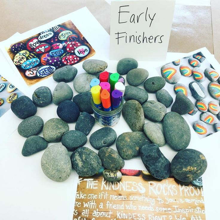 Early finishers? Get them to work on the #thekindnessrocksproject  #elementaryart