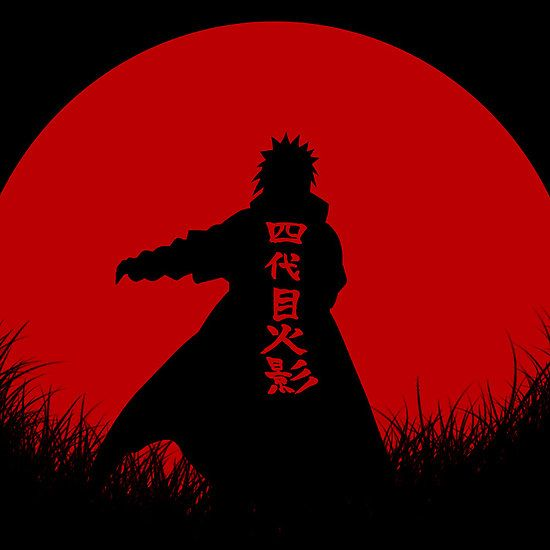 Red Moon Minato Namikaze : ( naruto ) also Available as Cards, Prints, Posters, T-Shirts & Hoodies, Kids Clothes, Stickers, iPhone & iPod Cases, and iPad Cases and Samsung Case