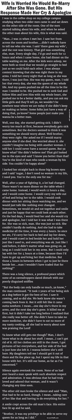 Two men were having a conversation about their wives. The words they shared with each other will bring tears to your eyes.