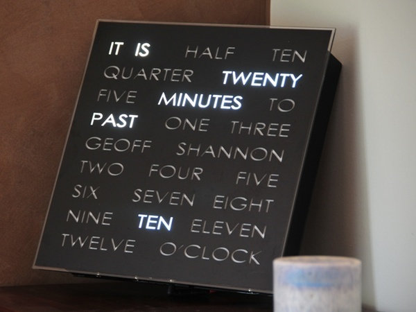 holy mackerel! just-for-fun: Future Houses, Decor Ideas, Awesome Clocks, Cool Clocks, Clocks About 380Ish, Fun Stuff, Words Clocks, 349 Clocks, Daily Life