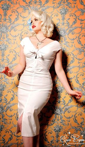 Pinup Couture Dixiefried NIAGARA Dress 2x Wiggle Marilyn Rockabilly Wedding Pug