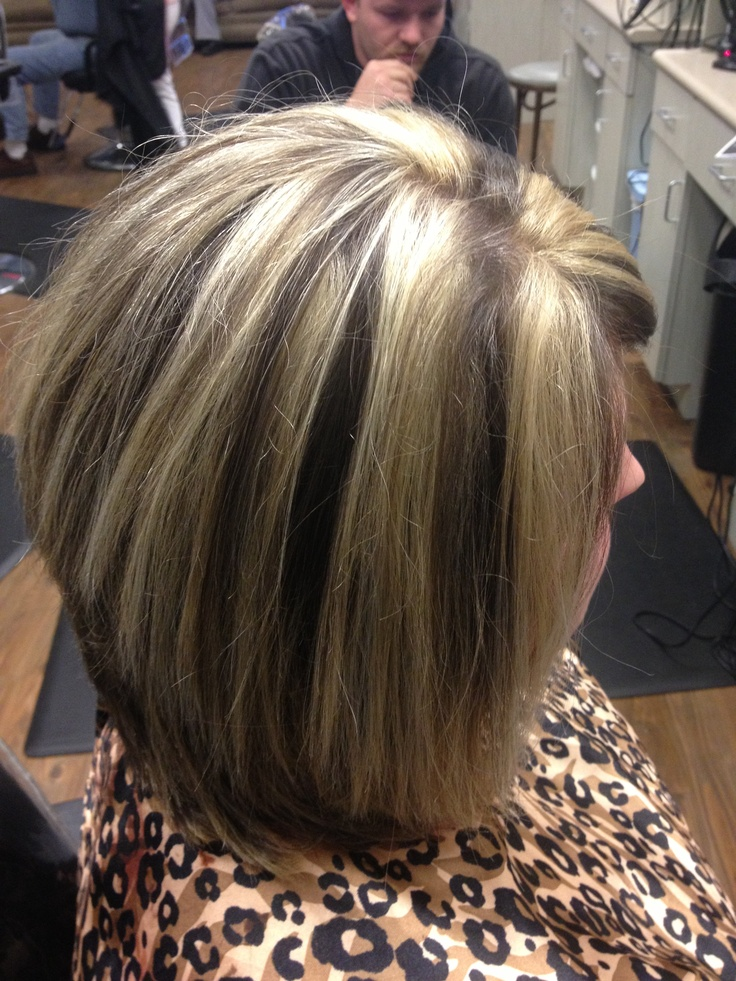 Chunky Blonde Highlights On Bob Style My Creations