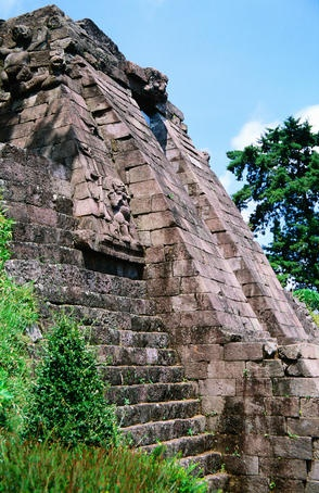 Gunung Lawu, Candi Sukuh    Fertility temple on slopes of Gunung Lawu, Candi Sukuh.
