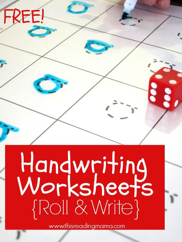 FREE Handwriting Worksheets {Roll and Write}