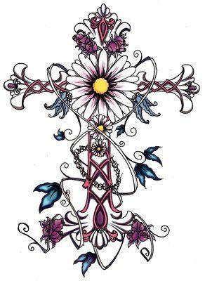 celtic tattoos for women | Feminine Cross Tattoo Design for Women Flower | Just Free Image ...