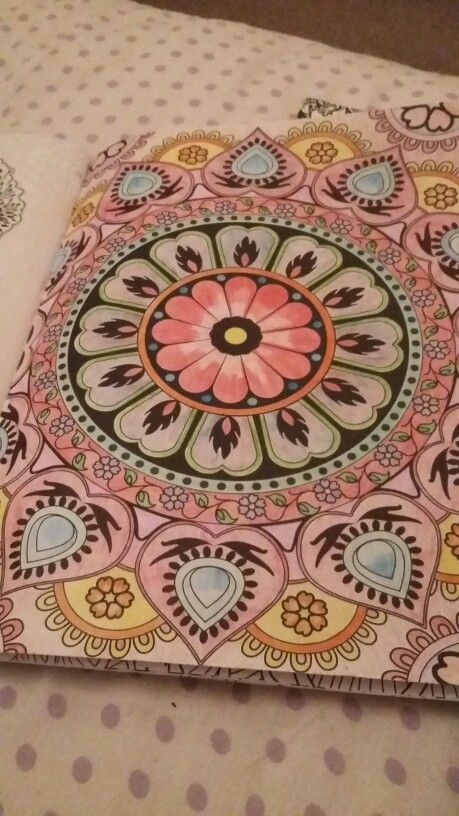 Mandala Inspired design #arttherapymag #colouring