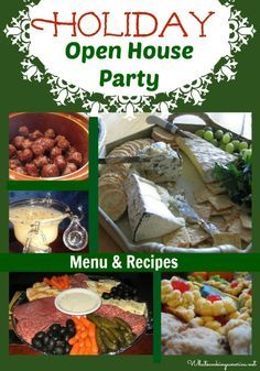 Holiday Open House Menu will help you to plan an open house for the holiday season. Enjoy these recipes for Christmas, Thanksgiving or New Years.