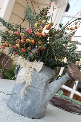 Rustic centerpiece. (From This Sweet Country Life blog). Cute for the front porch