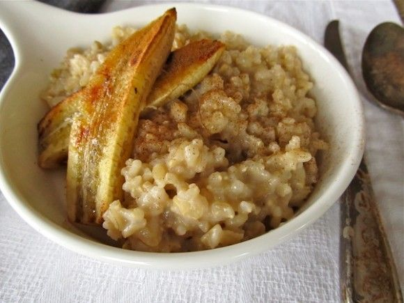 ... this: coconut rice puddings , caramelized bananas and coconut rice