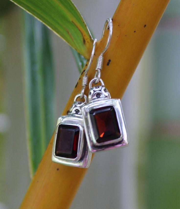Garnet Lantern Earrings. www.opusjewels.com.au