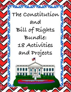This comprehensive Constitution & Bill of Rights bundle for seventh, eighth, and ninth graders will have students learning individually, collaboratively, in partnerships, or small groups to create Scavenger hunts, task cards, advertisements, brochures, videos, board games, talk shows, currencies, commercials, biography poems, books book jackets, newspapers, booklets, skits, & timelines. Active engagement for deeper meaning. {7th, 8th, 9th grade, history, social studies, civics, government}
