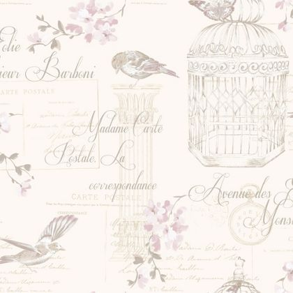 K2 birdcage wallpaper heather at homebase - Butterfly wallpaper homebase ...