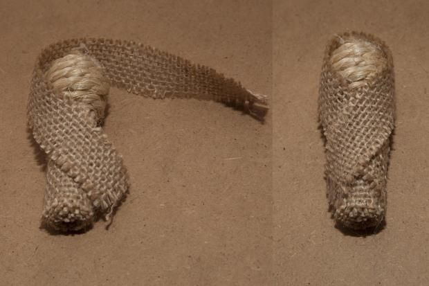 Nacimiento de cuerda y arpillera | Aprender manualidades es facilisimo.com