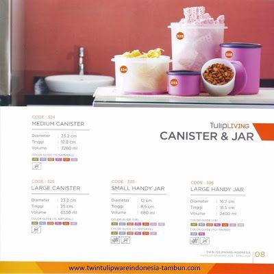 Canister & Jar Twin Tulipware   Tulip Living