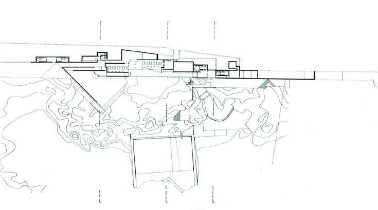 Plans of Architecture (Alvaro Siza, Leça Swimming Pools, 1966, Leça de...)