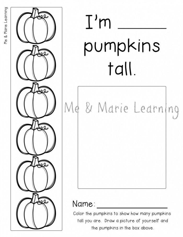 How many Pumpkins Tall? Preschool Activity