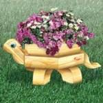 Landscape Timber Turtle Planter Woodworking Plan