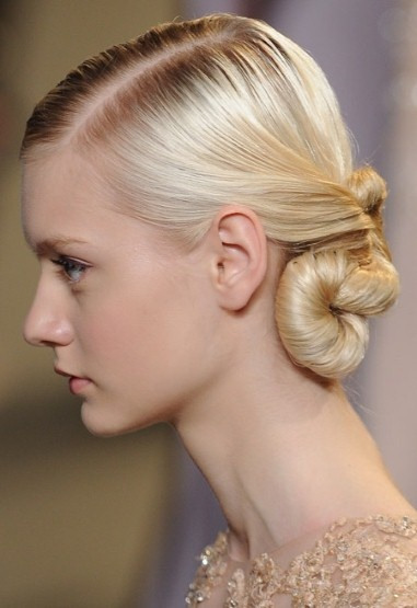Beautiful twisted up-do at Elie Saab spring summer 2013