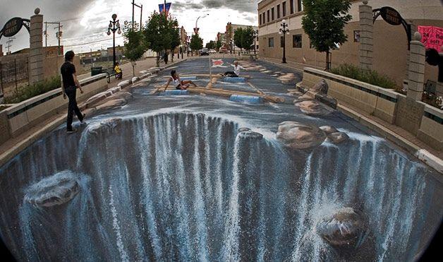 trompe loeil art   Street-art : Des trompes l'oeil impressionnants   Grumo