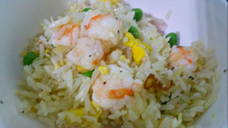 Prawns fried rice with shallots and egg 😋👄👅👅💋