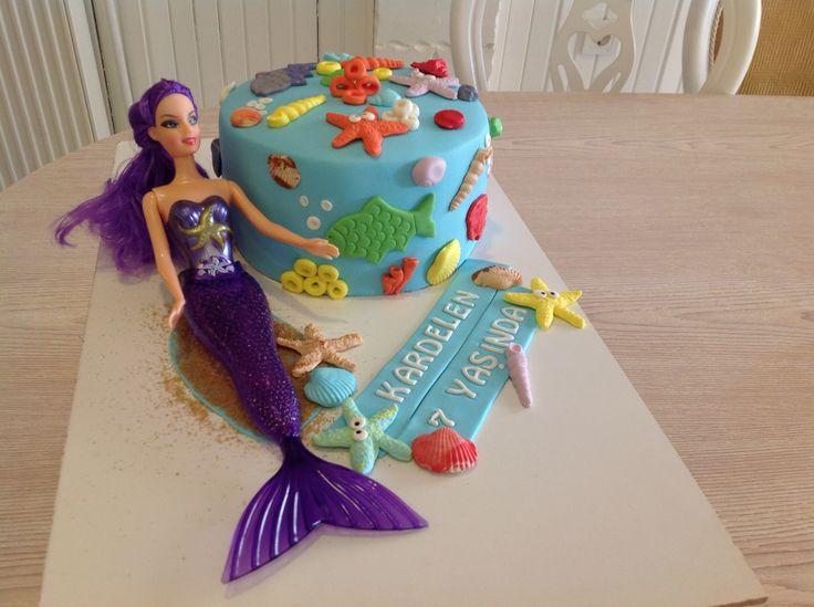 Deniz Kızı Temalı Pasta