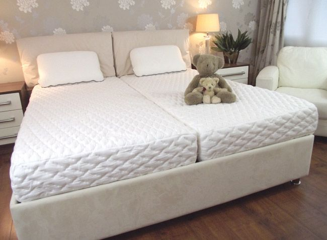 Znalezione obrazy dla zapytania two mattress double bed