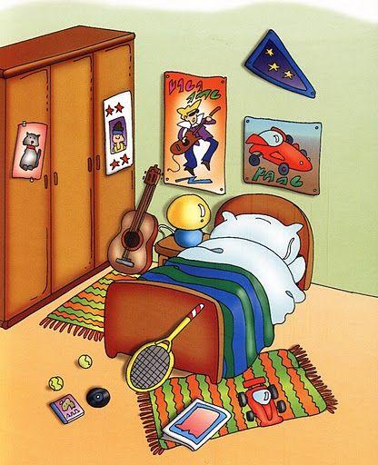 VOCABULARIO Láminas temáticas de expresión oral: El dormitorio http://www.imagenesydibujosparaimprimir.com/2011/07/imagenes-habitaciones-casa-para.html