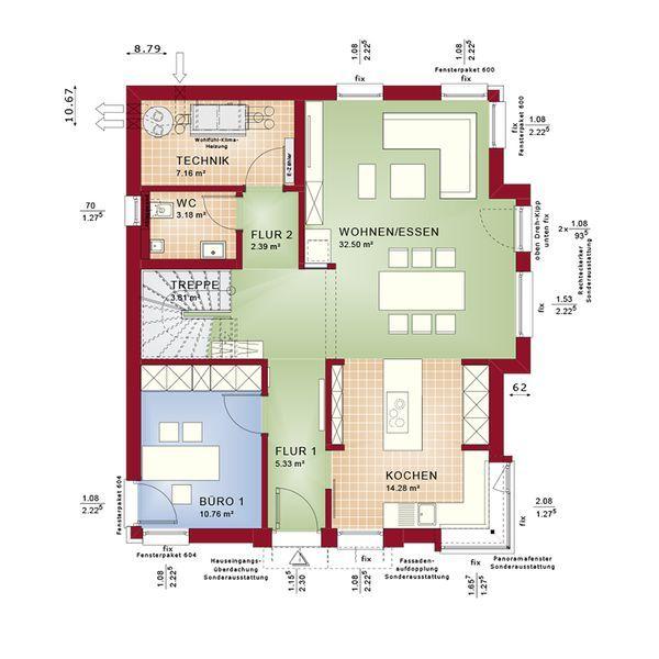 Musterhaus modern flachdach  7 besten 2 Bilder auf Pinterest | Flachdach, Musterhaus und ...