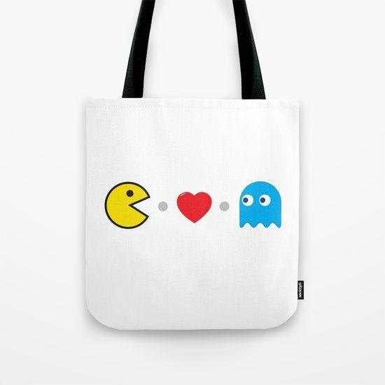 PAC-MAN HEART Tote Bag