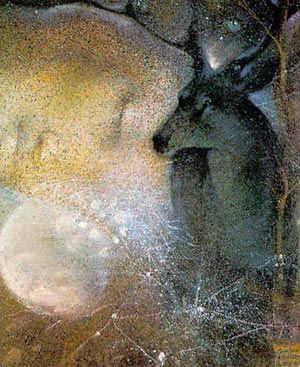 Goddess Knowledge Cards - Deer  Illustrations de Susan Seddon Boulet