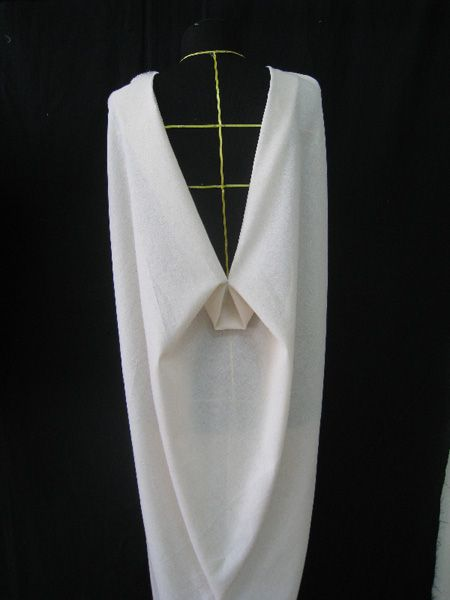 Draping on the stand - fashion design, dress development - moulage; pattern making; garment construction techniques