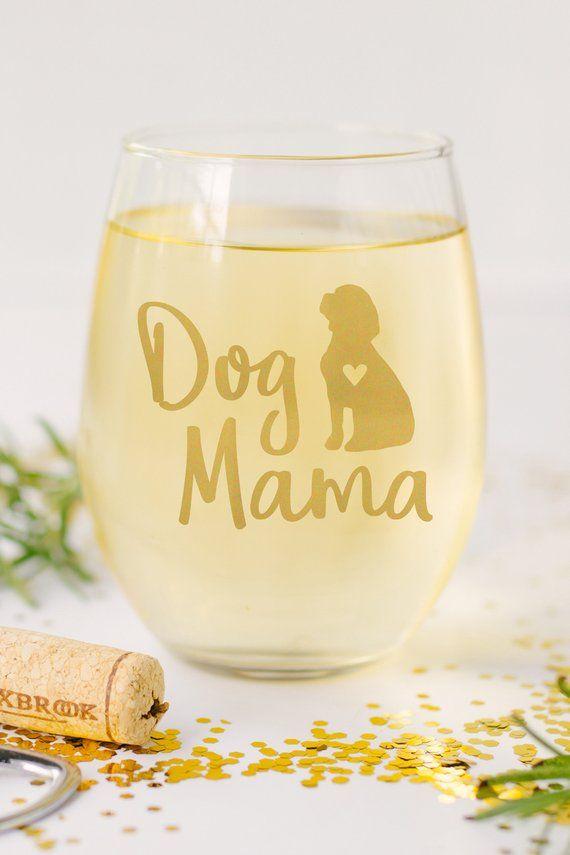 Beagle Dog Mama Wine Glass Hound Stemless 17 Oz Gift For Fur Mama Dog Mama English Bulldog Dog French Bulldog Dog
