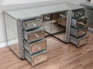 3 Drawer Mirrored Dressing Table