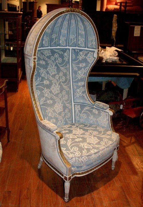 A Louis XVI Painted Canopy Chair.