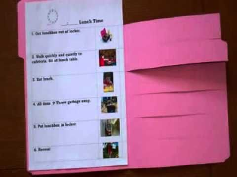 Special Education - Example of a Visual Task Schedule
