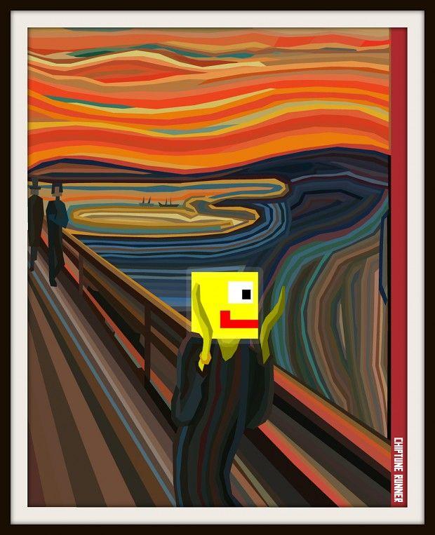 Chiptune Runner Scream Concept.