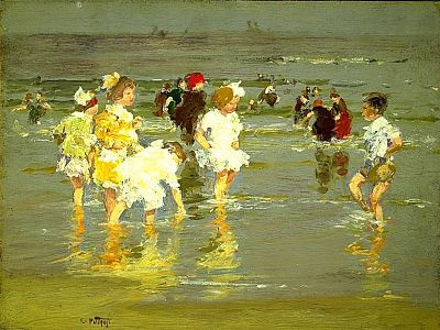 Edward Potthast, Children by the sea, 1924, Hirshhom Museum and Sculpture Garden. WC