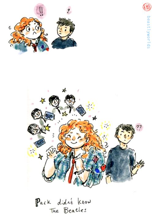 I just thought this was a really cute moment! Eleanor and Park, from Rainbow Rowell's book - already looking forward to the movie̵...