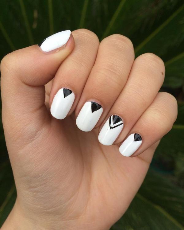 20 Geometric Nail Art Designs Ideas Design Trends