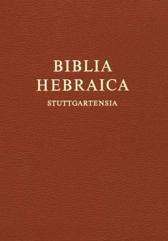 Biblia Hebraica Stuttgartensia by Karl Elliger. $46.66. Publisher: Deutsche Bibelgesellschaft (August 26, 1998). 1574 pages