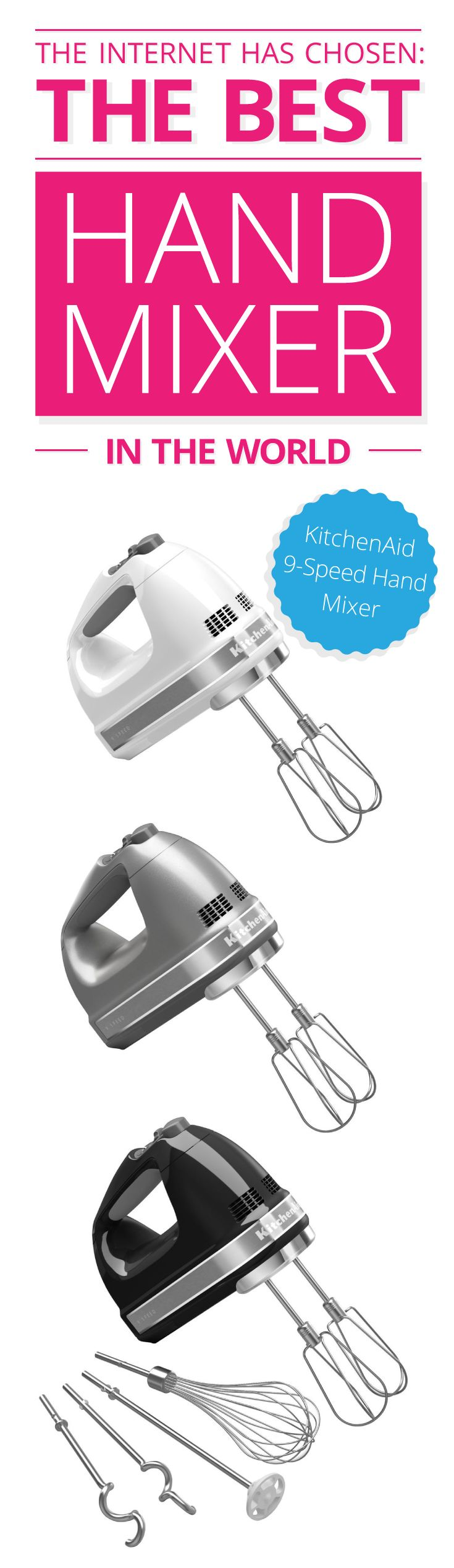 Whether you are whipping up some egg whites or need to knead dough for homemade pizza, there is no debating that a hand mixer is one of a cook's best helpers! And this mix, is awesome! http://www.comparaboo.com/hand-mixers?origin=googled2