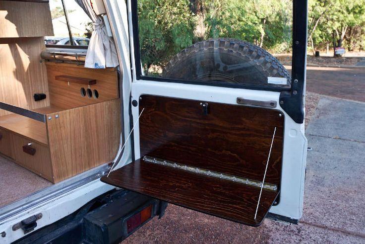 Rear door table